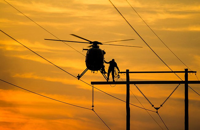 Michigan Transmission Line Construction Helicopters